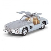 Kinsmart - 1954 Mercedes-Benz 300 SL Die-Cast with Openable Doors Pull Back Action 136 Scale (Silver)