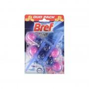 Odorizant wc Bref Power bile Duo Pack Flower Fresh 2 x 50 gr