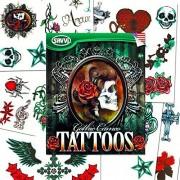 Savvi Skull Tattoos For Girls Costume Set (36 Gothic Temporary Tattoos, Including Skulls, Roses, Stars, Hearts And More!)