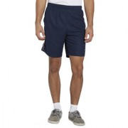 BONATY Navy Blue Polyester With Moisture Management Solid Short With Side Piping For Men