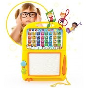 Boxiki kids Learning Tablet + Magnetic Drawing Pad by Boxiki Kids. Toddler Musical Toy w/ Kids' Learning Games. Educational Toy for Child Development. Learn Numbers ABC Learning Spelling Games Musical Tunes