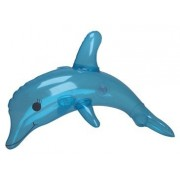 1 Dozen Inflatable Dolphins (Blue) Inflate Dolphin 12 Pack)