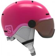 Salomon Grom Visor Junior Casque de ski (Rose)