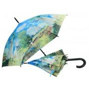 H.C.021-6602 Esernyő 100cm, Monet: Nő esernyővel