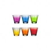 Leonardo 6 gobelets optic couleurs assortis