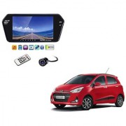 7 Inch Full HD Bluetooth LED Video Monitor Screen with USB Bluetooth + 8 LED Reverse Parking Camera For Hyundai Grand i10