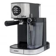 Espressor semi-automat Samus Intense, 15 bari, 1.2 L, Rezervor lapte 0.5 L, Functie Capuccino, Functie Latte, Selector nivel abur, Dispozitiv spumare, Negru