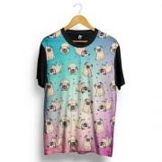 Camiseta BSC Multiple Pug Full Print - Masculino