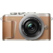 Aparat Foto Mirrorless Olympus PEN E-PL9 Pancake Zoom Kit + Obiectiv EZ-M1442EZ, 16.1 MP, Filmare Full HD (Maro)