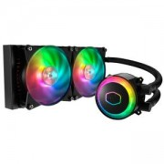Охладител за процесор Cooler Master MasterLiquid ML240R RGB, съвместим с Intel и AMD, 2 вентилатора x 120 мм, RGB подсветка