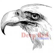 Deep Red Stamps Bald Eagle Portrait Rubber Stamp