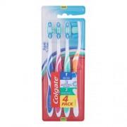 Colgate Triple Action Medium 4 ks zubné kefky s tvarovanými štetinami unisex