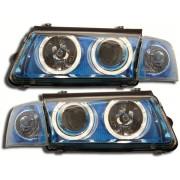 Faruri Angel Eyes VW Passat 3B 97-00 albastru/crom