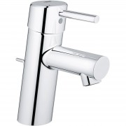Baterie lavoar Grohe New Concetto 32204001, Furtune flexibile, Argintiu