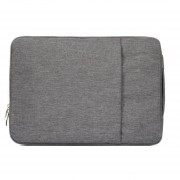 15,4 Pulgadas Moda Suave Denim Bags Portable Universal Laptop Notebook Laptop Funda Con Cremallera Para Macbook Air / Pro, Lenovo Y Otros Laptops, Tamaño: 39.2x28.5x2cm (gris)