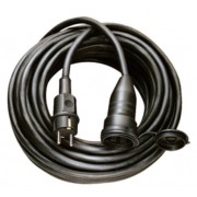 Minoségi gumi hosszabbítókábel IP44 25m fekete H05RR-F 3G1,5