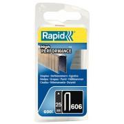 Capse Rapid 606 25 mm galvanizate cu rasina 600 blister