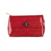 Catseye - Red Quilted Wash Bag