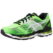 ASICS Men's Gel-Nimbus 17 Flash Green, White and Black Mesh Running Shoes - 6 UK