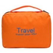 Everyday Desire Travel Cosmetic Makeup Toiletry Case Hanging Bag - orange(Orange)