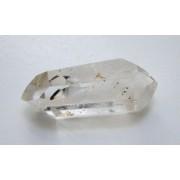 Pointe polie biterminée en cristal de roche