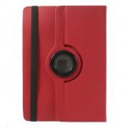 Javu - Medion Lifetab HD S10345 Hoes - Rotatie Cover Denim Rood
