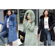 Shanghai Zhengxiang QicheZuling £26.99 for a ladies' winter coat in blue, khaki, green, black or red from Hey4Beauty