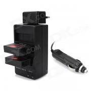 Adaptador de enchufe del cargador de bateria / Car + 1680mAh bateria + de la UE para GoPro 4