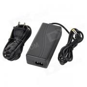 3A 12V adaptador de corriente w / US cable de enchufe para la luz de la camara - Negro