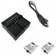 Ismartdigi camara cargador de bateria dual + para Canon EOS 500D / 1000D / 450D
