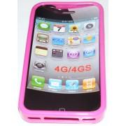 Силиконов гръб ТПУ за Apple iPhone 4G/4GS Розов