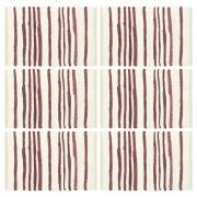 vidaXL 6 darab burgundi vörös-fehér pamut alátét 30 x 45 cm