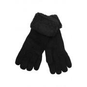 Emi Ross dámské pletené rukavice s kožíškem černá