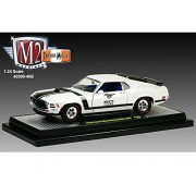 50 Years of Mustang 1965 Ford Mustang GT 2+2 Fastback 1/24 Pearl White with Black Stripes