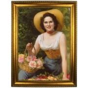 Портрет по фото *С корзиной роз*