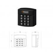 Selector digital cu 4 canale Roger H85/TDR/E IP54, cod fix, rolling code (Roger)