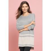 Capture Boxy Knit - Grey Marl/Oatmeal - Womens