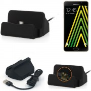 Charge Station D'accueil Base De Chargeur Pour Samsung Galaxy A5 (2016) Dock Chargement Micro Usb Desktop Charger Charging Stand Cradle Black - K-S-Trade (Tm)