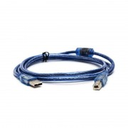 USB 2.0 Extension Print Cable1.5M 3 M 5 M OHFC Koper Transparant Blauw Groothandel Uitgebreide USB Kabel voor Printer HDD jinchi