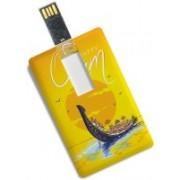 100yellow 8GB Credit Card Shape Happy Onam Printed Designer Pendrive 8 GB Pen Drive(Multicolor)