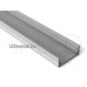 Alumínium U profil LED szalaghoz , 2 méter , VÍZTISZTA fedővel , WIDE