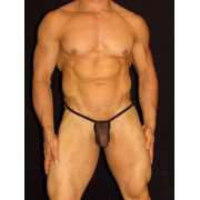 Arroyman Stocking Mesh G String Underwear Black MEDIA3