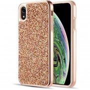 Funda Case Iphone Xs Max Protector Brillos Diamante - Rose