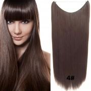 Flip in vlasy - 60 cm dlouhý pás vlasů - odstín 4 - Světové Zboží