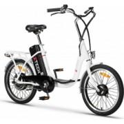 Bicicleta electrica 250W acumulator 36V 9Ah Li-Ion Z-Tech ZT 07 A alb