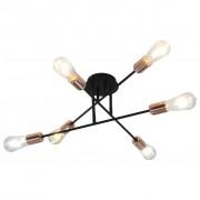 vidaXL Таванна лампа с filament крушки, 2 W, черно и мед, E27