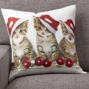 """Mira design Kuddfodral """"Santa cats"""""""