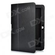 funda protectora de cuero de la PU para Samsung Galaxy Tab 2 P5100 - negro