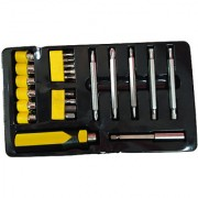 Ezzi deals 22 pcs screw driver set yellow and black Screwdriver Socket Bit Tool Kit Set For Home Office