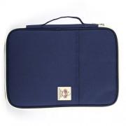 Office Supplies Multi-purpose Zipper Document Folder A4 Storage Bag (navy)